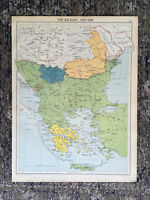 Antique Map Of The Balkans J G Bartholomew C1924