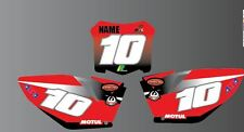 HONDA CR CRF 85 125 150 250 450 NUMBER BOARDS GRAPHICS-BACKGROUNDS-STICKER-MX