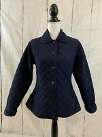 OUTBACK TRADING CO Jacket Blue Microsuede Quilted Snap Up Women's Size XS