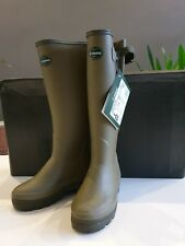 Le Chameau Vierzonord Neoprene Lined Insulated Wellington Boots Size 6.5 40 SALE