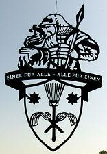 """Der """"Heilige Florian"""" Schutzpatron für Schornsteinfeger H=90cm aus 3mm Stahl"""