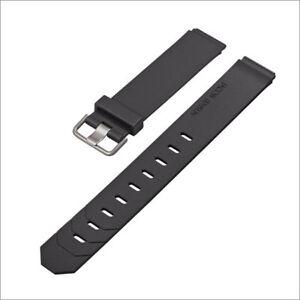 JACOB JENSEN Uhrband watch strap original Kautschuk schwarz 17 mm Einschubband