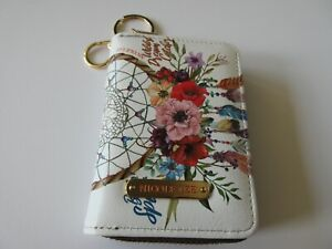 Nicole Lee Credit Card Holder With Keychain/RFID Technology Bohemian White New