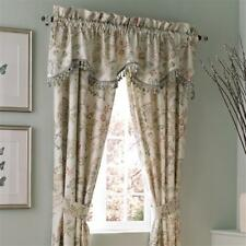 Croscill RIVIERA SCALLOPED VALANCE FLORAL JACOBEAN TASSEL FRINGE 75 X17 NEW