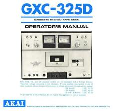 Bedienungsanleitung-Operating Instructions für Akai GXC-325 D