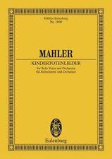 Partition pour voix & orchestre - Gustav Mahler - Kindertotenlieder