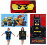 Children Lego City DC Superhero Ninjago Kapow Batman Poncho Beach Towel New