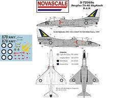 RAN TA-4G Skyhawk Mini-Set Decals 1/72 Scale N72069a