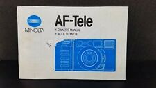 ORIGINAL Minolta AF-tele camera Owner's Operating Manual Instructions guidebook