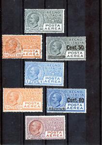 REGNO 1917/27 Posta Aerea Lotto va di 7 Valori nuovi MLH, MH, Usato
