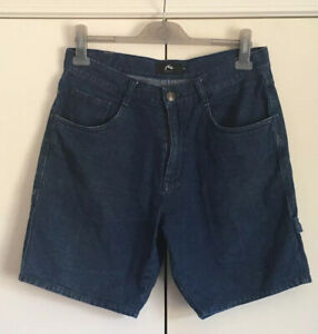 Rusty Mens Casual Blue Denim Shorts Size 32