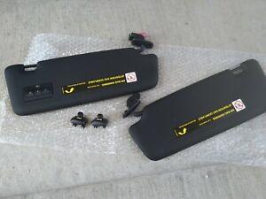 audi s4 a4 rs4 b6 b7 black s-line set of sun visor garage open w/clips
