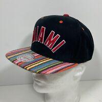 MIAMI HEAT Mitchell & Ness Snapback Cap Hat Black Colorful Bill NBA Basketball