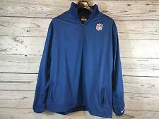 Nike Mens Blue NFL On Field Apparel 1/4 Zip Sweater Jacket Size Large NEW