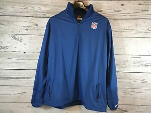 Nike Mens Blue NFL On Field Apparel 1/4 Zip Pullover Activewear Size XXL 2XL NWT