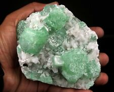 Apophyllite green crystal with Stilbite # B 2759