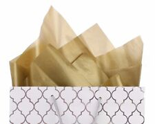 "100 Pack - Metallic Gold Tissue Paper - 20"" x 30"" - Jumbo Gift Wrap Paper Bulk"