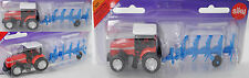 Siku Super 1621 Massey Ferguson MF 9240 Traktor mit Anbau-Drehpflug LEMKEN