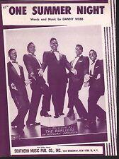 One Summer Night 1958 The Danleers Sheet Music