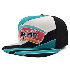 San Antonio Spurs Mitchell & Ness STRIPEZ Snapback NBA Hat - Teal, Black, Pink