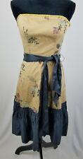 Anthropologie Tabitha women 2 Winter Flame dress strapless silk trim