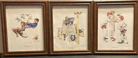Lot Of 3 Framed Norman Rockwell Prints Flying High, Shear Agony, And Choosin Up