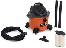 RIDGID Wet Dry Shop Vac Vacuum Cleaner 6 gal. 3.5-Peak HP Car House Work Sweeper