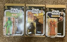 Star Wars Black Series 50th Anniv. JAWA / OBI-WAN/ GREEDO Amazon SET With Sorter