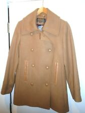 Pendleton Wool Blend with Leather Trim Double Breasted Peacoat NWT size 10 $375