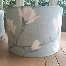 Handmade Lampshade Laura Ashley Magnolia Grove Duck Egg Blue, Pink Floral Fabric