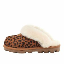 UGG Coquette Leopard Natural Women's Sheepskin Slide Slippers 1117494
