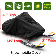 145'' Trailerable Waterproof Outdoor Ski Snowmobile Sled Cover Full Storage