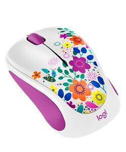 Logitech M317 Design Collection Wireless Mouse Spring Meadow w/ Nano BNIB Sealed