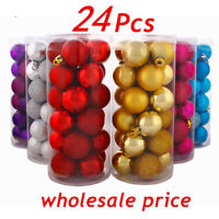 24PCS 3cm Christmas Tree Xmas Balls Decorations Baubles Party Wedding Ornament !