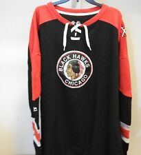 NHL Chicago Blackhawks Centre Lace-Up Sweatshirt Hockey Jersey New Mens 6XL