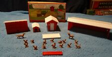 Plasticville O Scale 1617 700 Farm Buildings And Animals Complete In OB.