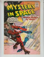 """Mystery In Space 52 VG+ (4.5) DC! 6/59 """"Mirror Menace of Mars!"""""""