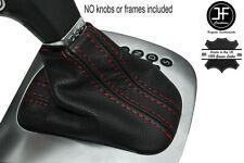 Red Stitch Leather Shift Boot Fits Vw Golf Mk5 V Dsg Automatic 2003 2008 Fits Jetta