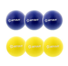 "Get Out™ 6"" Inch Soft Latex-Free Foam Dodgeball Balls 6-Pack Set Yellow & Blue"
