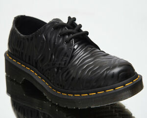 Dr. Martens 1461 Black Zebra Gloss Emboss Smoooth Women's Casual Lifestyle Shoes