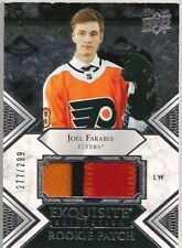 Joel Farabee 2019-20 Exquisite Collection Rookie RC Patches #RPJF /299! Flyers