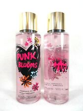 TWO VICTORIA'S SECRET PUNK BLOOMS FRAGRANCE BODY SPRAY MIST 8.4 OZ LMT EDITION