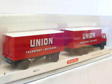 Wiking 0457 01 Hanomag Henschel Kofferhängerzug Union Transport OVP (N5734)