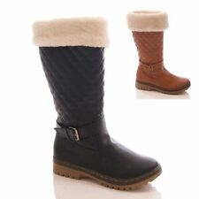 Flat (less than 0.5') Unbranded Fur Boots for Women