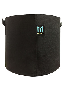 MIDHILL 5 Gallon 18 Liters GROW BAGS Breathable Nonwoven Fabric Pots with Strong