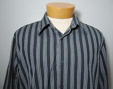 EXPRESS DESIGN STUDIO SHIRT L  MODERN FIT  Premium Woven Black White Striped