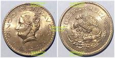 Mexico 5 centavos 1944 high grade 26mm bronze coin UNC