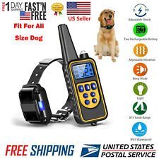 Pet Dog Electric Training Collar Shock LCD Rechargeable Waterproof With Remote