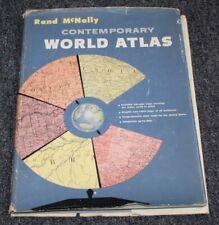 Vtg 1957 Book RAND MCNALLY CONTEMPORARY WORLD ATLAS