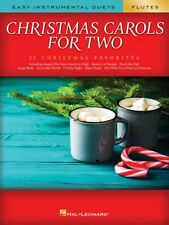 Christmas Carols for Two Flutes Easy Instrumental Duets Book New 000277964